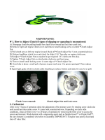 MAINTENANCE # 1. How to Adjust Clutch if signs of slipping or