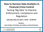 How to Harness Data Analytics in Financial Crime Control Taming