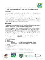 Bow Valley Construction Waste Diversion How-To Guide