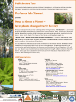 Professor Iain Stewart How to Grow a Planet – how plants changed